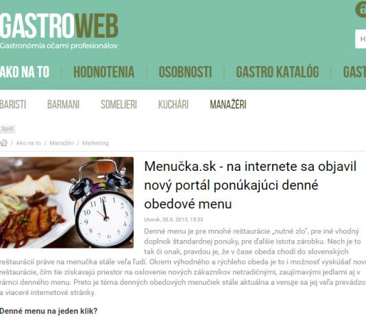 Gastroweb menucka.sk