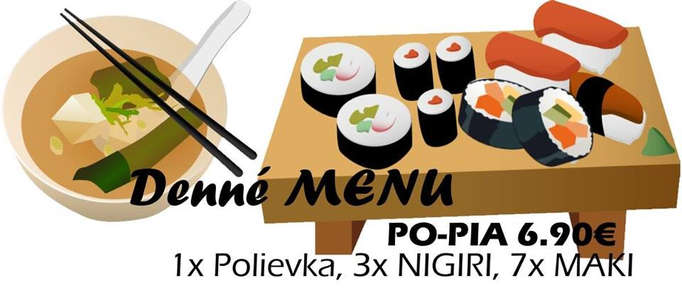 Samurai Sushi v Banskej Bystrici - denné menu