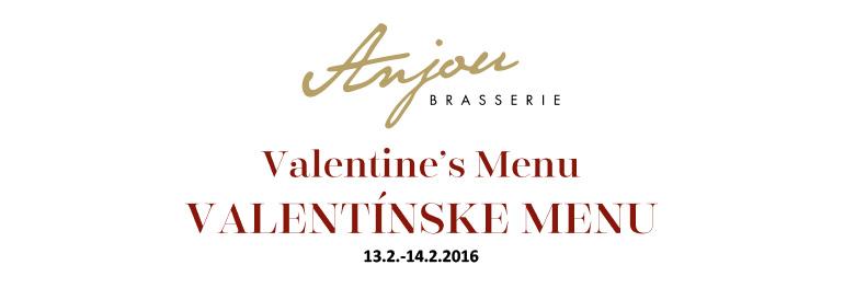 Valentínske menu v Brasserie Anjou
