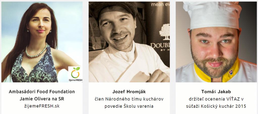 Food Revolution Day Jamie Oliver Košice - Janka Chytráčková, Jozef Hromják, Tomáš Jakab