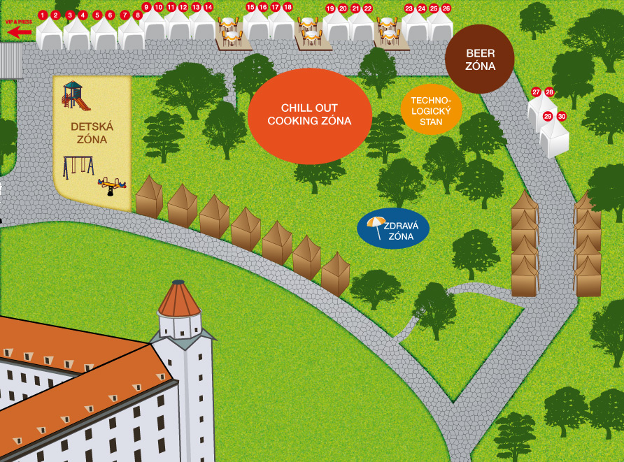 Slovak Food Festival - mapa areálu