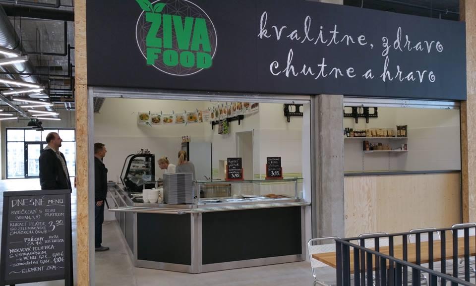 vegetariánske a vegánske reštaurácie: Živa food, Freshmarket, Bratislava, foto: facebook.com/zivafood/photos
