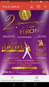 2. reprezentačný ples - Club Hron @ Club Hron | Slovensko
