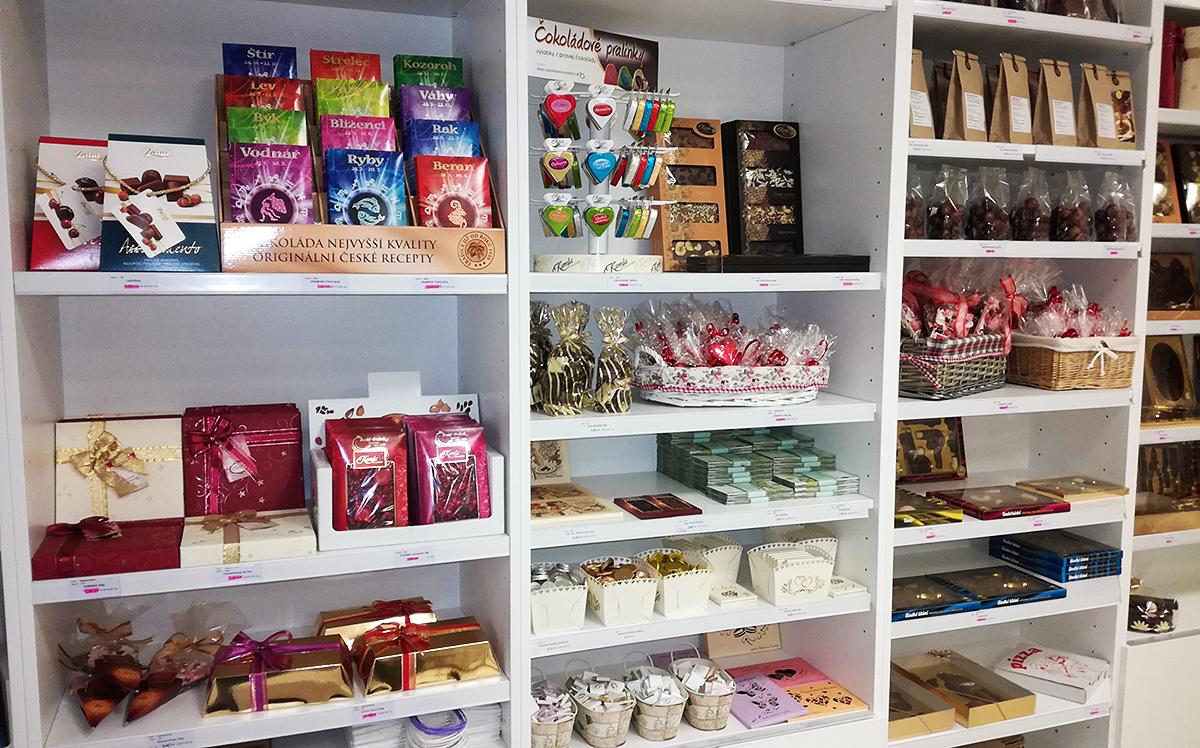 Čokoládové pralinky Prešov predajňa