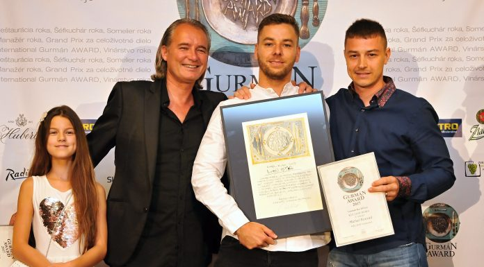 Gurmán award - kuchár roka 2017