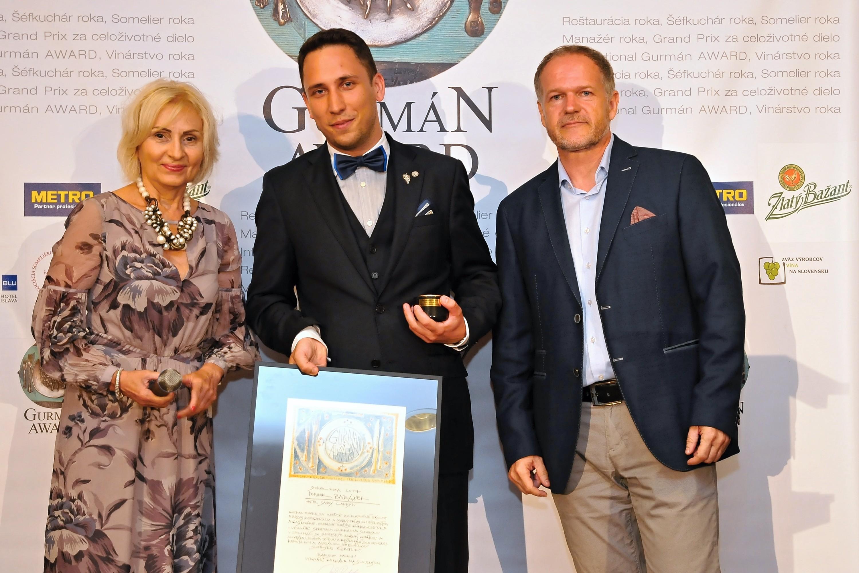 Gurmán award - someliér roka