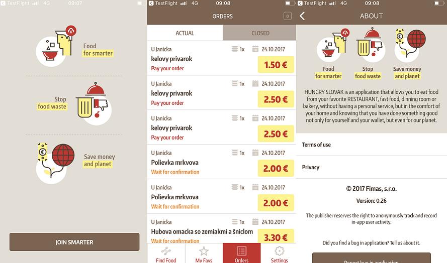 Hungry Slovak: Orientácia v aplikácii je jednoduchá a intuitívna