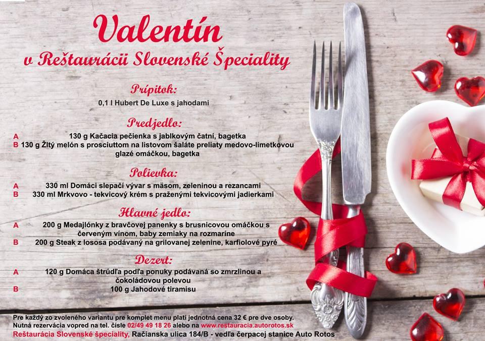 Valentín: foto: Reštaurácia Slovenské špeciality