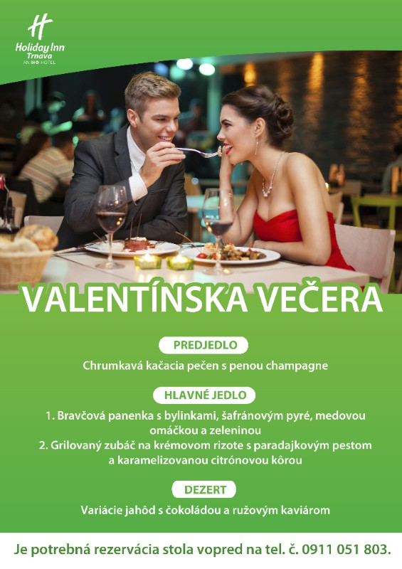 Valentín: foto: Holiday Inn Trnava