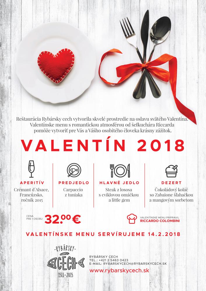 Rybársky Cech Valentínske menu 2018