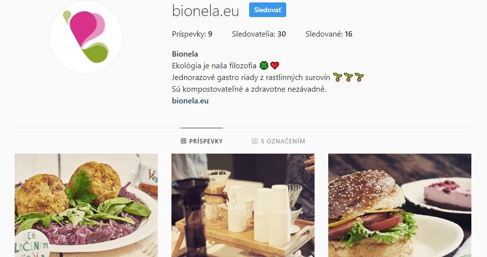 Bionela: Fungujú už aj na Instagrame