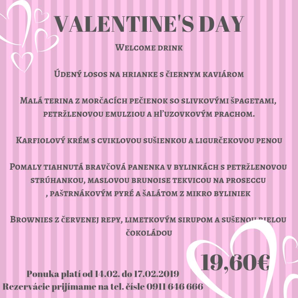 Penzión Sivý kameň - valentínske menu Prievidza Bojnice Podhradie