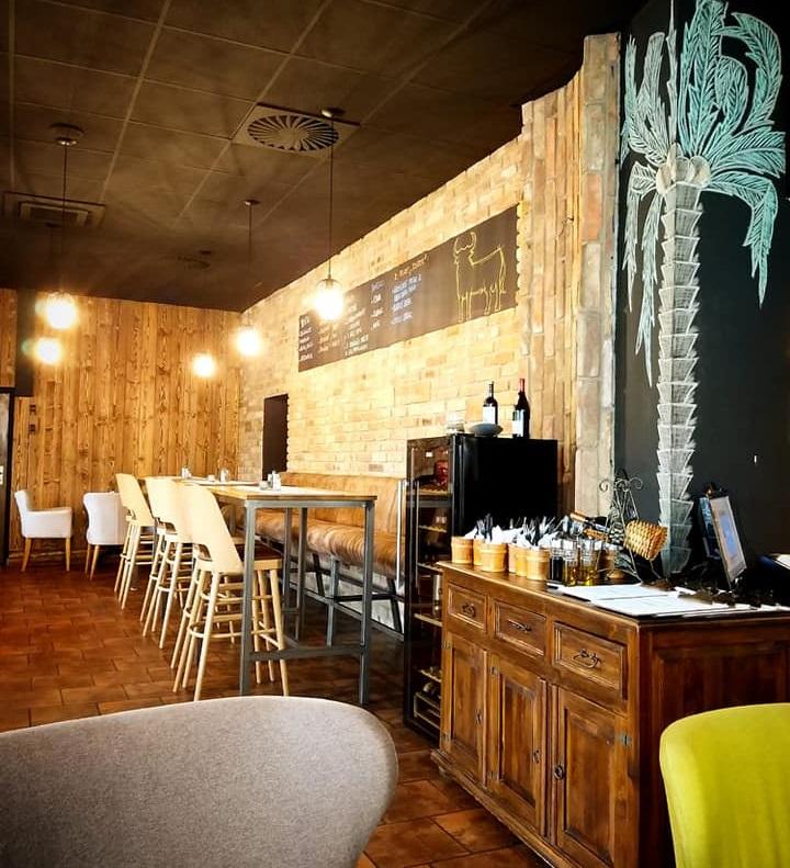 Interiér reštaurácie.
